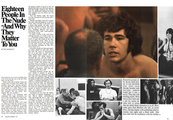 Article Preview: Eighteen People In The Nude -And Why They Matter To You, February 1971 | Maclean's