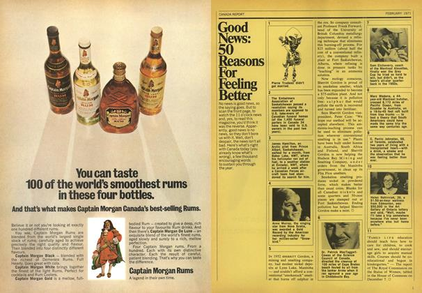 Article Preview: Good News: 50 Reasons For Feeling Better, February 1971 | Maclean's