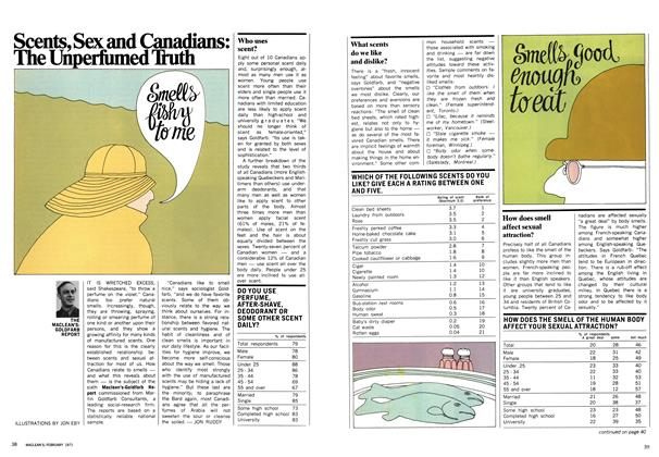 Article Preview: Scents, Sex and Canadians: The Unperfumed Truth, February 1971 | Maclean's