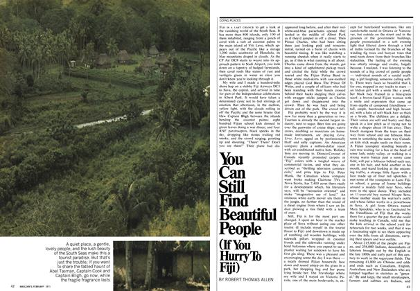 Article Preview: You Can Still Find Beautiful People (If You Hurry To Fiji), February 1971 | Maclean's
