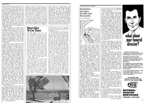 Article Preview: Headaches: the pains, the pills and the puzzles, February 1971 | Maclean's