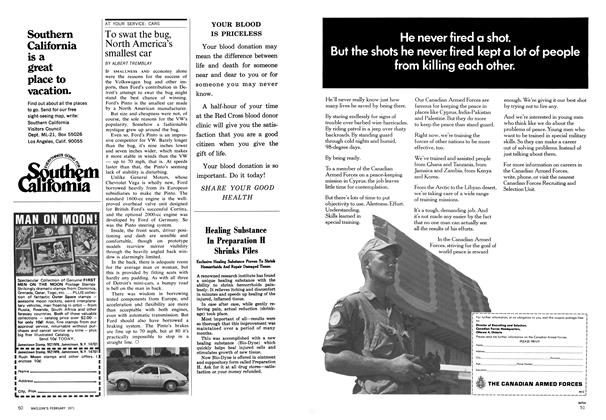 Article Preview: To swat the bug, North America's smallest car, February 1971 | Maclean's