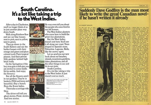 Article Preview: Suddenly Dave Godfrey is the man most likely to write the great Canadian novel-if he hasn't written it already, February 1971 | Maclean's