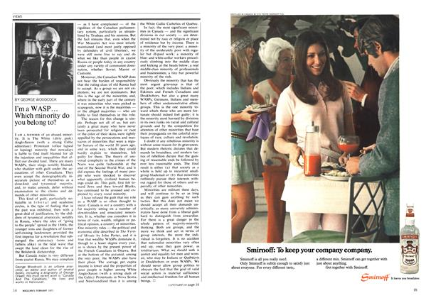 Article Preview: I'm a WASP ... Which minority do you belong to?, February 1971 | Maclean's