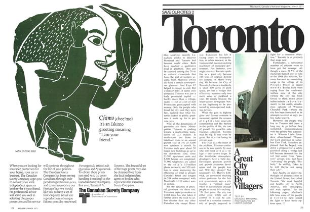 Article Preview: A Great City Run By Villagers, March 1971 | Maclean's