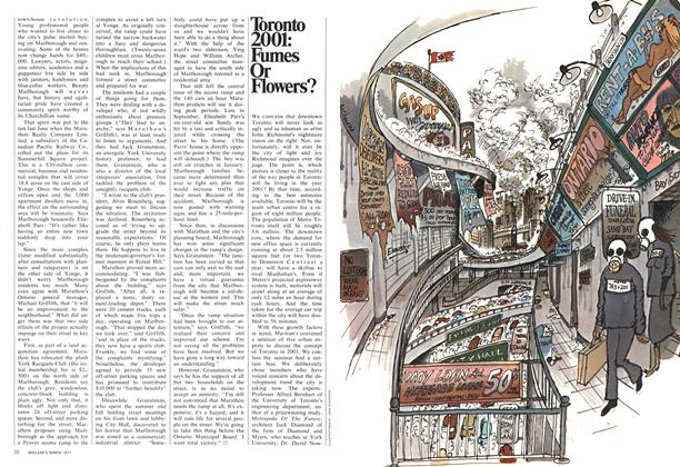 Article Preview: Toronto 2001: Fumes Or Flowers?, March 1971 | Maclean's