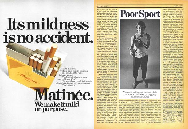 Article Preview: Poor Sport, March 1971 | Maclean's