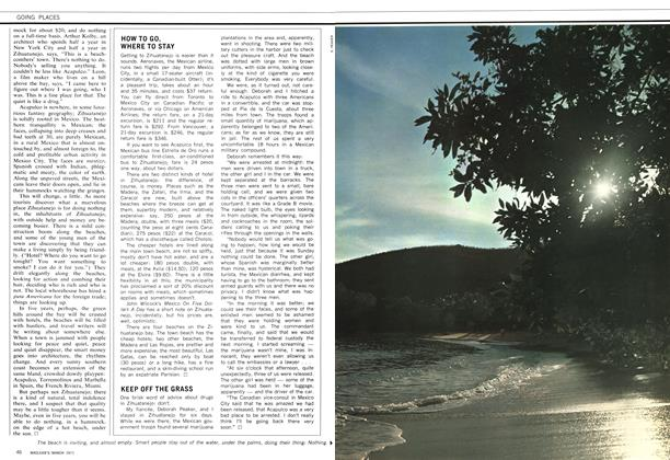 Article Preview: KEEP OFF THE GRASS, March 1971 | Maclean's