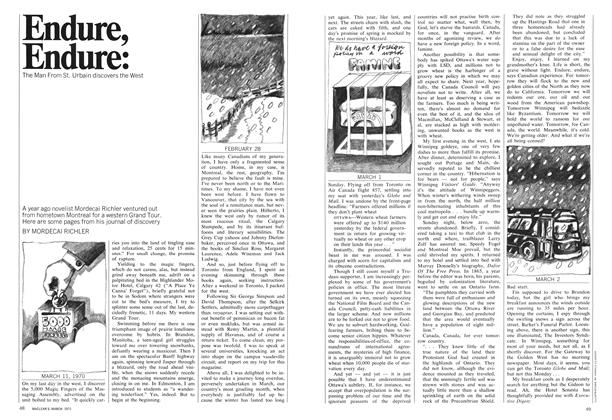 Article Preview: Endure, Endure:, March 1971 | Maclean's