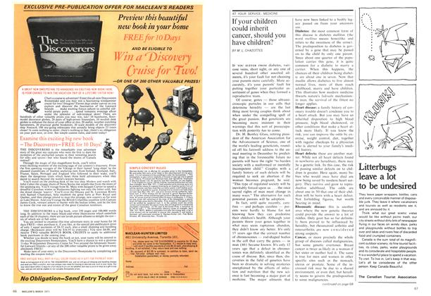 Article Preview: If your children could inherit cancer, should you have children?, March 1971 | Maclean's