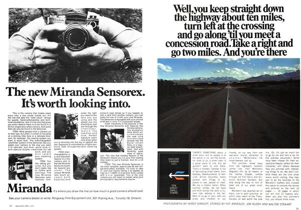 Article Preview: EXPLORE CANADA 1971 TEN GREAT SMALL TOWNS, April 1971 | Maclean's