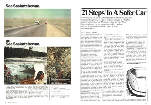 Article Preview: 21 Steps To A Safer Car, April 1971 | Maclean's