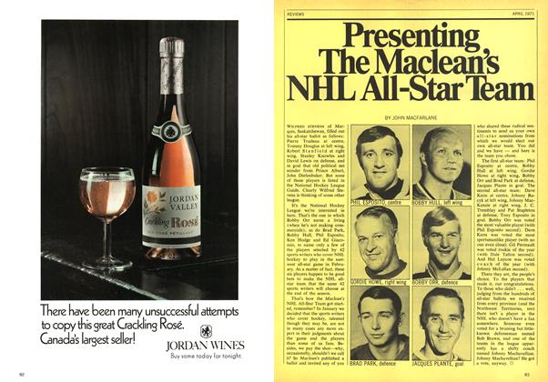 Article Preview: Presenting The Maclean's NHL All-Star Team, April 1971 | Maclean's