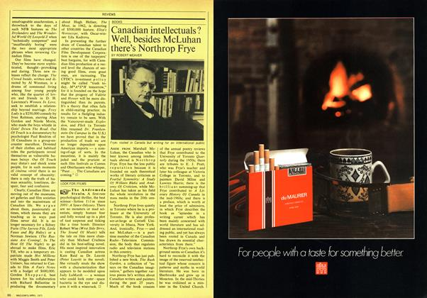 Article Preview: Canadian intellectuals? Well, besides McLuhan there's Northrop Frye, April 1971 | Maclean's