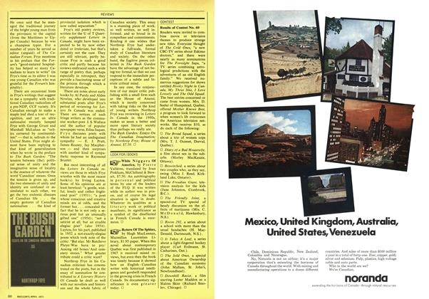 Article Preview: LOOK FOR/BOOKS, April 1971 | Maclean's