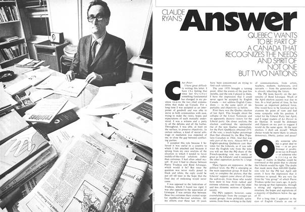 Article Preview: CLAUDE RYAN'S Answer, May 1971 | Maclean's