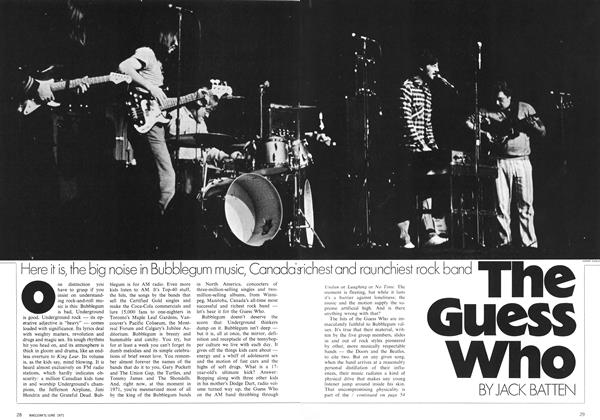 Article Preview: The Guess Who, June 1971 | Maclean's