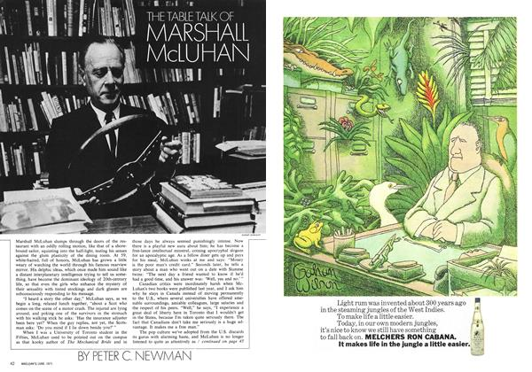 Article Preview: THE TABLE TALK OF MARSHALL McLUHAN, June 1971 | Maclean's
