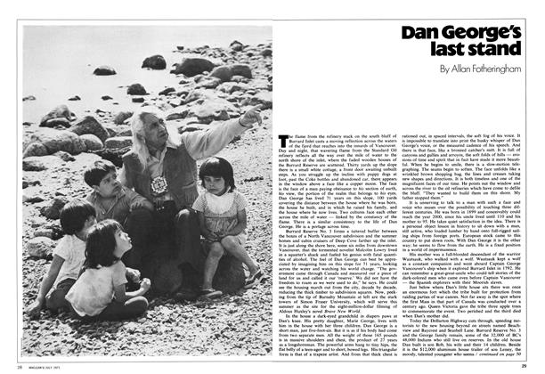 Article Preview: Dan George's last stand, July 1971 | Maclean's
