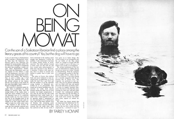 Article Preview: ON BEING MOWAT, August 1971 | Maclean's