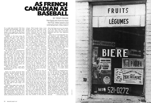 Article Preview: AS FRENCH CANADIAN AS BASEBALL, August 1971 | Maclean's