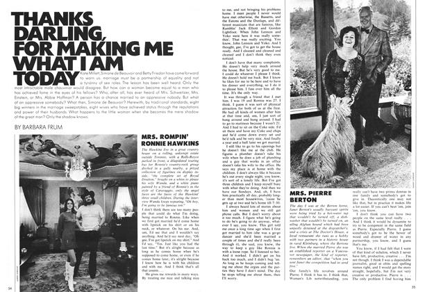 Article Preview: THANKS DARLING, FOR MAKING ME WHAT I AM TODAY, August 1971 | Maclean's