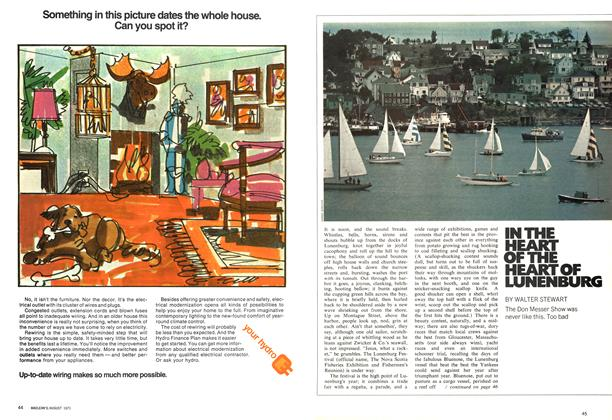 Article Preview: IN THE HEART OF THE HEART OF LUNENBURG, August 1971 | Maclean's