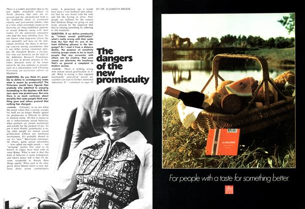 Article Preview: The dangers of the new promiscuity, August 1971 | Maclean's