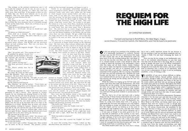Article Preview: REQUIEM FOR THE HIGH LIFE, September 1971 | Maclean's