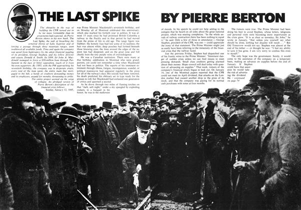 Article Preview: THE LAST SPIKE, September 1971 | Maclean's