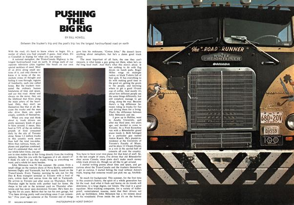 Article Preview: PUSHING THE BIG RIG, September 1971 | Maclean's