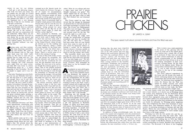 Article Preview: PRAIRIE CHICKENS, November 1971 | Maclean's