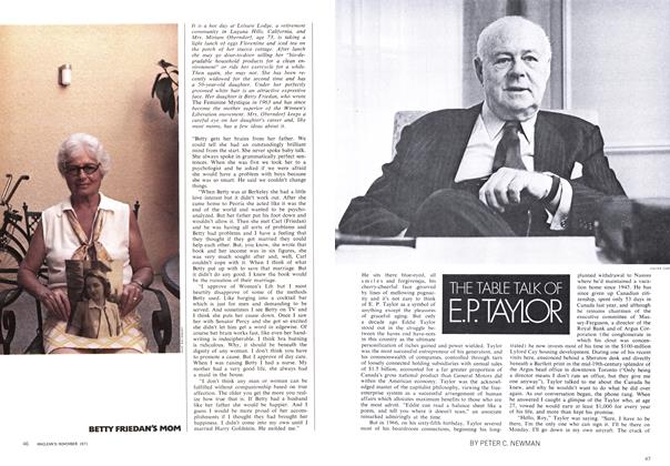 Article Preview: THE TABLE TALK OF E.P. TAYLOR, November 1971 | Maclean's