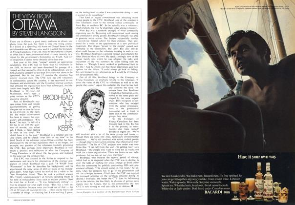 Article Preview: DAL BRODHEAD AND THE COMPANY HE KEEPS, November 1971 | Maclean's