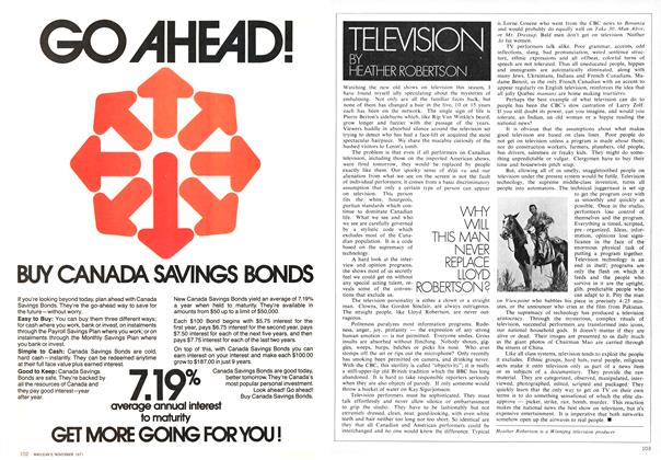 Article Preview: WHY WILL THIS MAN NEVER REPLACE LLOYD ROBERTSON?, November 1971 | Maclean's