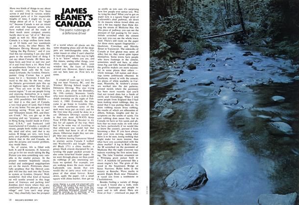 Article Preview: JAMES REANEY'S CANADA, December 1971 | Maclean's