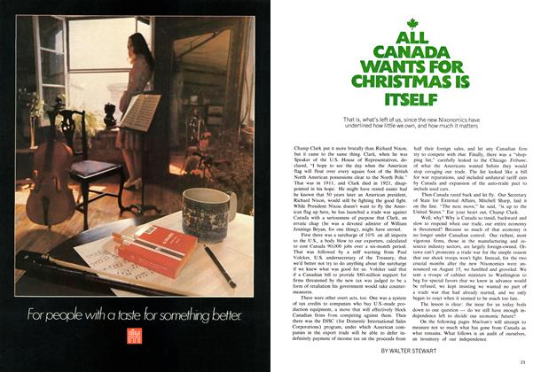 Article Preview: ALL CANADA WANTS FOR CHRISTMAS IS ITSELF, December 1971 | Maclean's