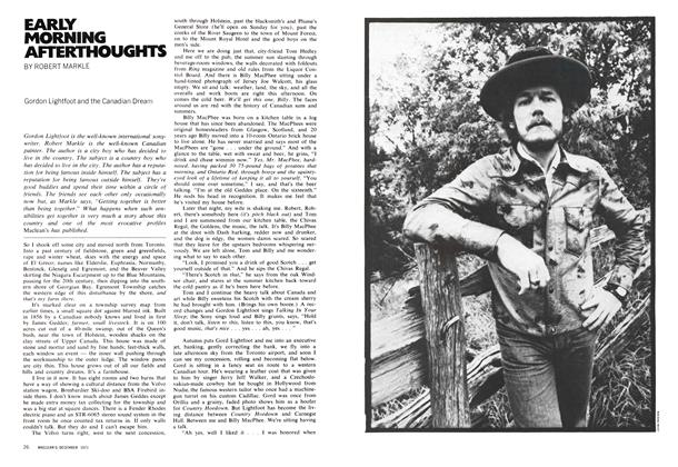 Article Preview: EARLY MORNING AFTERTHOUGHTS, December 1971 | Maclean's