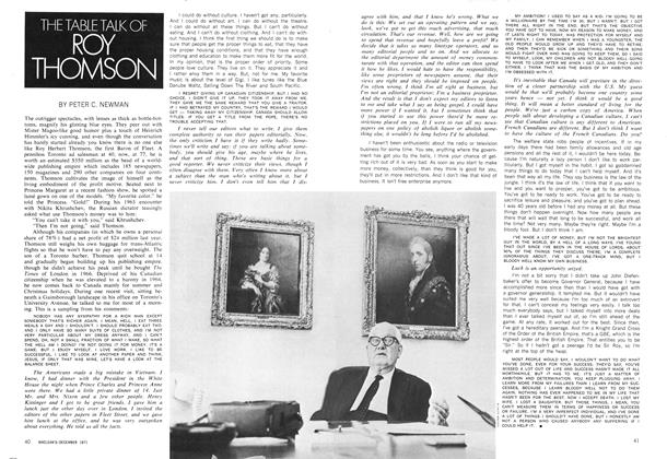 Article Preview: THE TABLE TALK OF ROY THOMSON, December 1971 | Maclean's