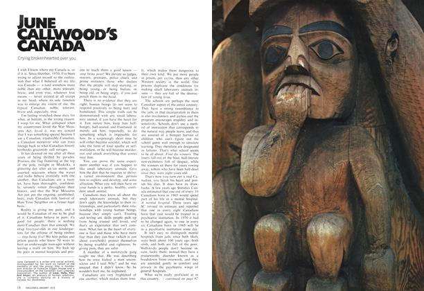 Article Preview: JUNE CALLWOOD'S CANADA, January 1972 | Maclean's