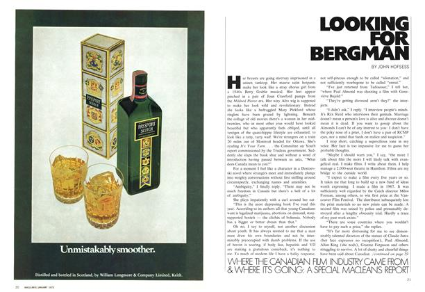 Article Preview: LOOKING FOR BERGMAN, January 1972 | Maclean's