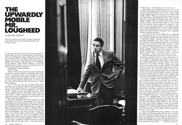 Article Preview: THE UPWARDLY MOBILE MR. LOUGHEED, January 1972 | Maclean's