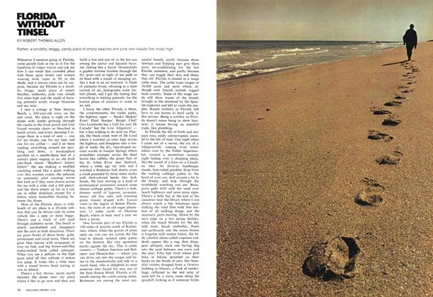Article Preview: FLORIDA WITHOUT TINSEL, January 1972 | Maclean's