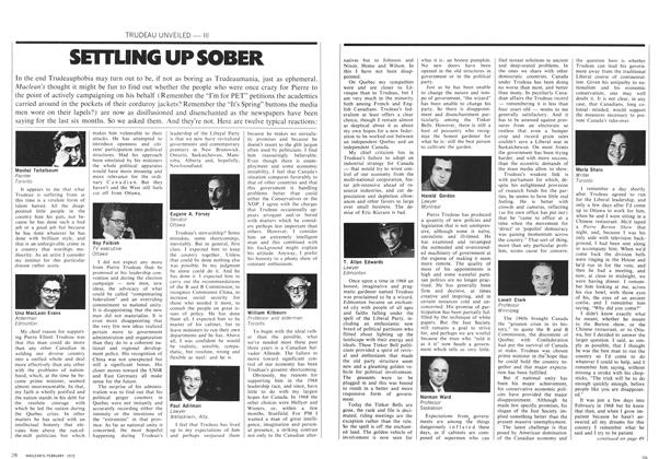 Article Preview: SETTLING UP SOBER, February 1972   Maclean's