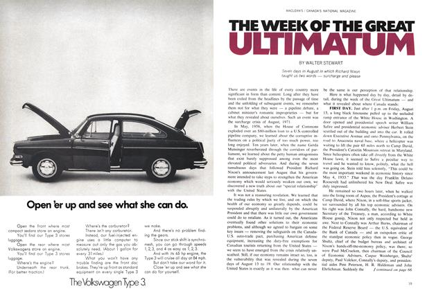 Article Preview: THE WEEK OF THE GREAT ULTIMATUM, March 1972 | Maclean's