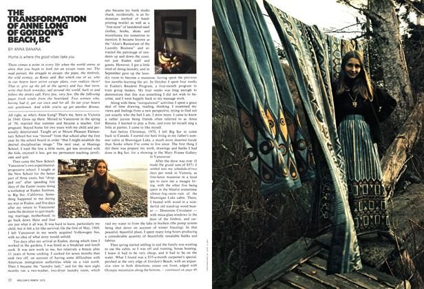 Article Preview: THE TRANSFORMATION OF ANNE LONG OF GORDON'S BEACH, BC, March 1972 | Maclean's