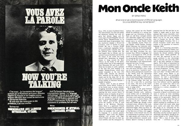 Article Preview: Mon Oncle Keith, March 1972 | Maclean's