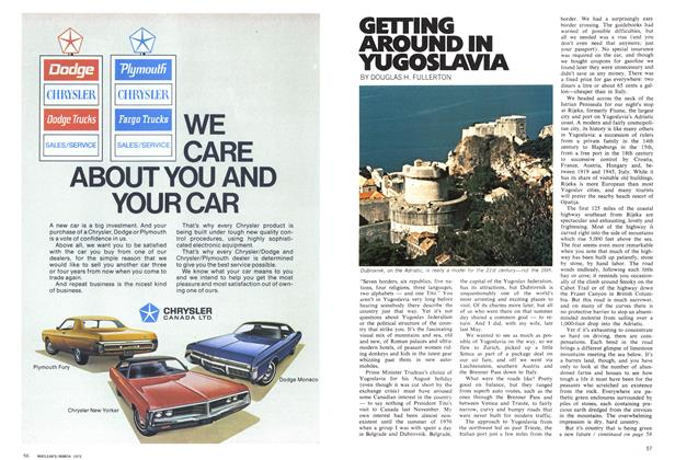 Article Preview: GETTING AROUND IN YUGOSLAVIA, March 1972 | Maclean's