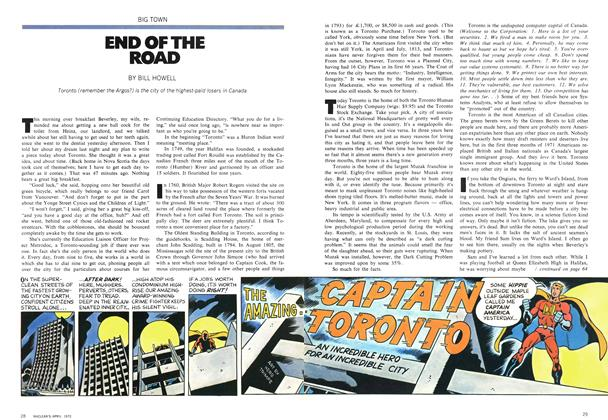 Article Preview: END OF THE ROAD, April 1972 | Maclean's