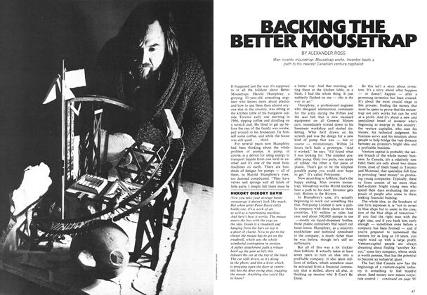 Article Preview: BACKING THE BETTER MOUSETRAP, April 1972 | Maclean's